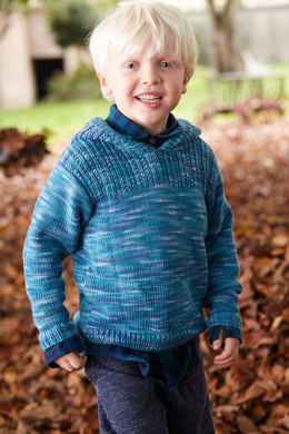 Child's Pullover with Hood in Schachenmayr Merino Extrafine 120 - S9051 - Downloadable PDF