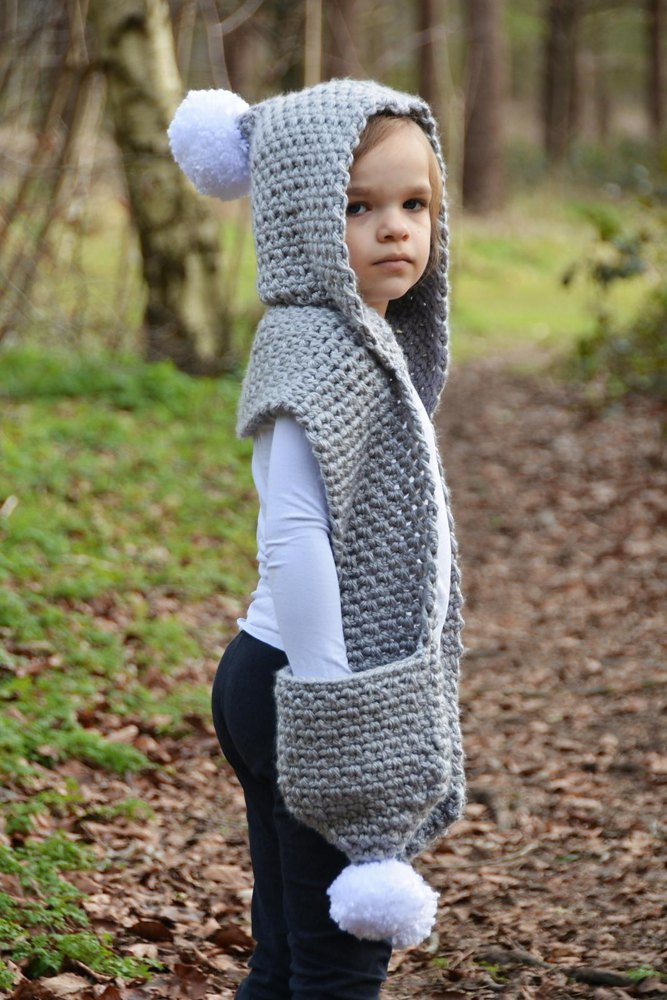 The Snowdrift Hooded Scarf Crochet Pattern By Willow Knot Patterns