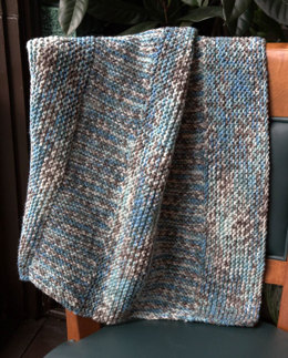 Baby Blanket in Plymouth Yarn Woolcotte - F646 - Downloadable PDF
