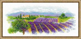 Riolis Blooming Provence Cross Stitch Kit - 55cm x 25cm