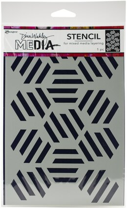 "Ranger Dina Wakley Media Stencils 9""X6"" - Fractured Hexagons"