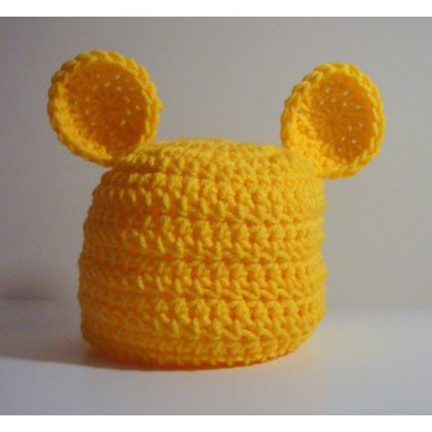 Teddy Bear Hat Newborn to Adult