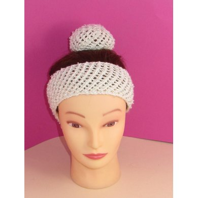 Ballerina Beaded Easy Lace Headband and Bun Cover