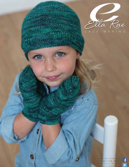 Beanie and Mitts in Ella Rae Lace Merino - ER14-03 - Downloadable PDF