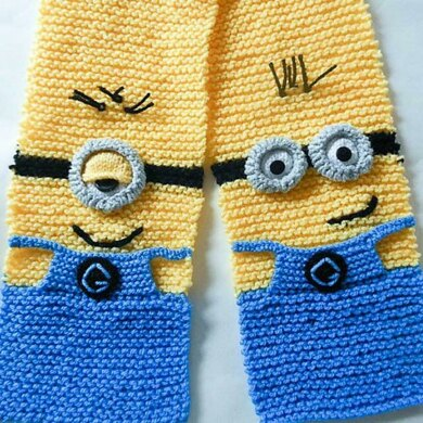Funny Character Scarf Knitted Version