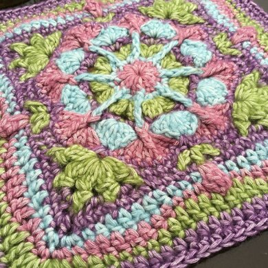English Garden Afghan Square