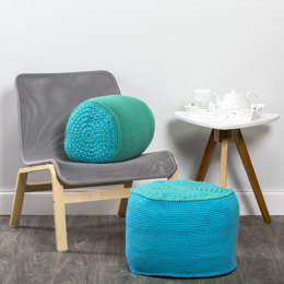 Crochet Poufs in Premier Yarns Everyday Bulky - Downloadable PDF