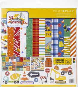 "Photoplay Paper PhotoPlay Collection Pack 12""X12"" - Little Builder"