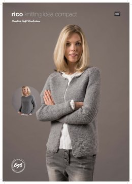 eaf36026bb39d3 Sweater and Cardigan in Rico Creative Soft Wool Aran - 656