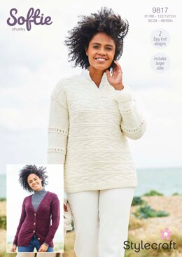 Women Cardigans in Stylecraft Softie - 9817 - Downloadable PDF