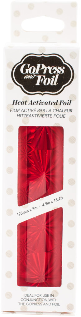 "Artdeco Creations Couture Creations Foil 5""X16.4' - Red Hologram - Mirror Finish"