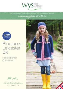 Fair Isle Border Coat & Hat in West Yorkshire Spinners Bluefaced Leicester DK