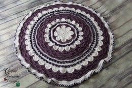 A Round The Flower Garden Afghan