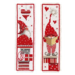 Vervaco Christmas Gomes Bookmark Set  (2pcs) Cross Stitch Kit - 6cm x 20cm