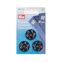 Prym Sew-On Snap Fasteners 21 mm Black