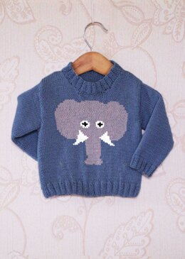 Intarsia - Elephant Face Chart & Childrens Sweater