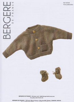Cardigan and Bootees in Bergere de France Magic+ - 33566
