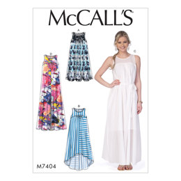 McCall's Misses' Dresses and Belt M7404 - Sewing Pattern