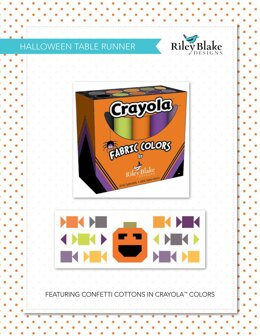 Riley Blake Halloween Table Runner - Downloadable PDF