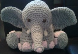 Elephant Amigurumi Pillow / Toy
