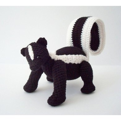 Striped Skunk Amigurumi Pattern