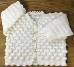 Round Neck Bobble Cardigan for Baby or Child