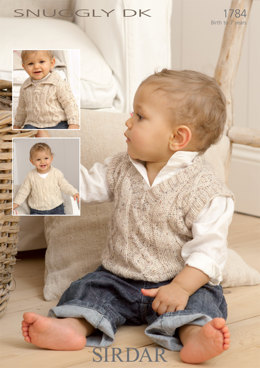 Babies and Children Sweaters and Tank Top in Sirdar Snuggly DK - 1784 - Downloadable PDF