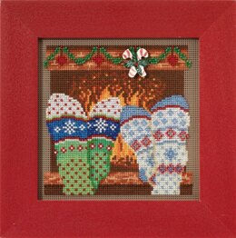 Mill Hill Cozy Feet Cross Stitch Kit - 5in x 5in
