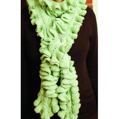 Livy Ruffle Scarf Crochet Pattern Two Sizes Crochet Pattern By