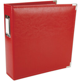 "We R Memory Keepers We R Classic Leather D-Ring Album 8.5""X11"" - Real Red"