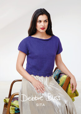 """Josefina Top"" - Top Knitting Pattern For Women in Debbie Bliss Sita"
