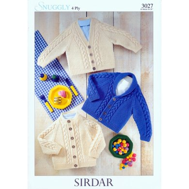 Jackets in Sirdar Snuggly 4 Ply - 3027