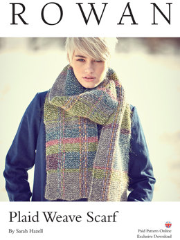 Plaid Weave Scarf in Rowan Fazed Tweed - D157