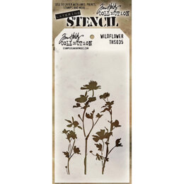 "Stampers Anonymous Tim Holtz Layered Stencil 4.125""X8.5"" - Wildflower"