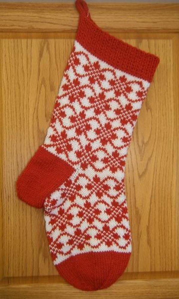 Endless Roses Christmas Stocking Knitting pattern by Denise Balvanz Knittin...
