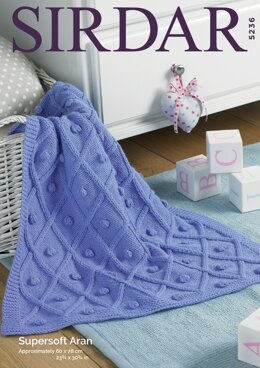 Blanket in Sirdar Supersoft Aran - 5236 - Downloadable PDF