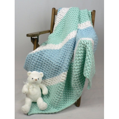 Soften His World Baby Blanket in Caron Simply Soft - Downloadable PDF
