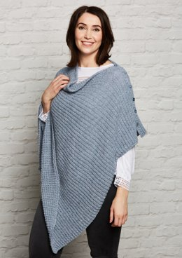 Simple Poncho in Rooster Alpaca 4 Ply