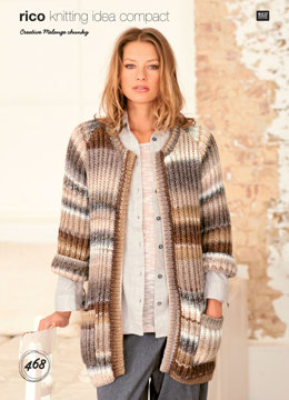 Coat and Cardigan in Rico Creative Melange Chunky - 468 - Downloadable PDF
