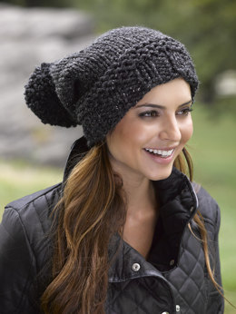 Pompoms Hat in Lion Brand Wool-Ease Thick & Quick - L32106C