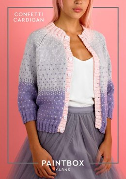 Confetti Cardigan in Paintbox Yarns Wool Mix Aran - Downloadable PDF