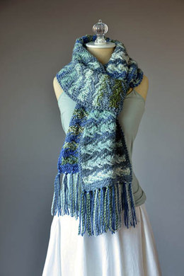Rising Tide Scarf in Universal Yarn Major - Downloadable PDF