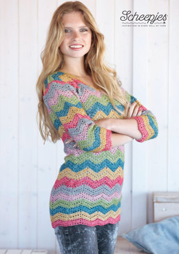 Pullover in Scheepjes Stone Washed - Model A