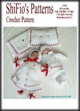 Crochet pattern 9 Piece Baby UK & USA Terms #46