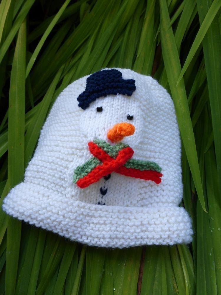 Snowman Baby Hat Knitting Pattern By Sleake Knits