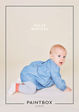 """Polar Bootees"" - Booties Knitting Pattern For Babies in Paintbox Yarns Simply DK"