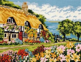 Anchor Seaview Cottage Tapestry Kit - 40 x 30 cm