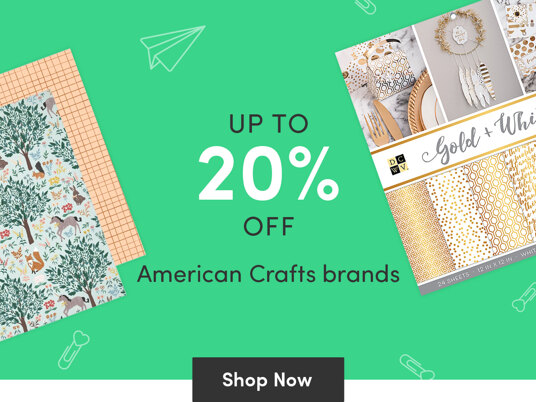 Up to 20 percent off American Crafts brands!
