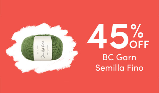 45 percent off BC Garn Semilla Fino. Today only!