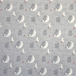 Visage Textiles Miffy Cut to Length - Moon On Stripes